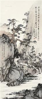 松溪竹隐图 立轴 设色纸本 by chen shaomei