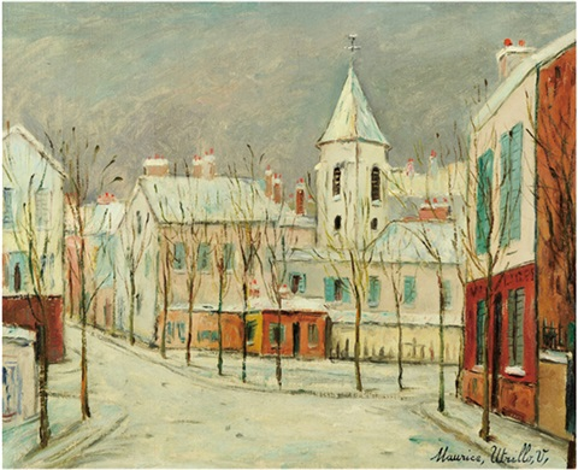 eglise sous la neige by maurice utrillo