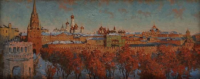 blick auf moskau im herbst by nikolai nikanorovich dubovskoy