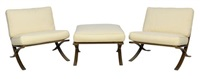 lyon outdoor ottoman and chairs (set of 3 works) by kreiss furnishings