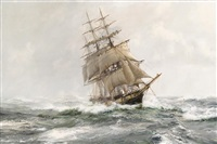 white squall - clipper ship ann mckim by montague dawson