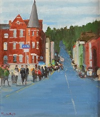 view of patrick's hill, cork by john morris