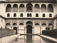 grenade, alhambra, grande cour devant la salle des ambassadeurs by louis de clercq