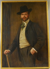 portrait of alexander rübel by caspar ritter