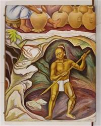 alegoría de méxico: los productos naturales by raúl anguiano