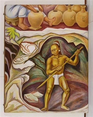alegoría de méxico los productos naturales by raúl anguiano