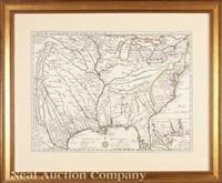 carte de la louisiane et du cours du mississipi dressee... by guillaume de l'isle