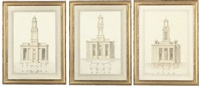 design for wordesley church, stourbridge, staffordshire (+ 2 others; 3 works) by lewis vulliamy