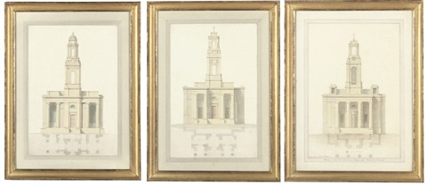 design for wordesley church stourbridge staffordshire 2 others 3 works by lewis vulliamy