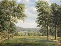 vue du parc de saint-cloud by prosper baccuet