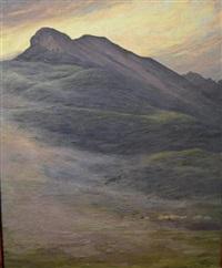 troupeau dans la montagne by hippolyte coutau