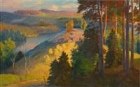 autumn landscape by johan elis kortman