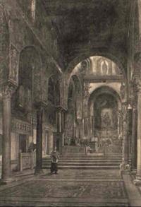 interno della cappella palatina a palermo by pietro volpes