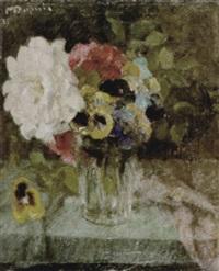 stilleven met bloemen by maurice dupuis