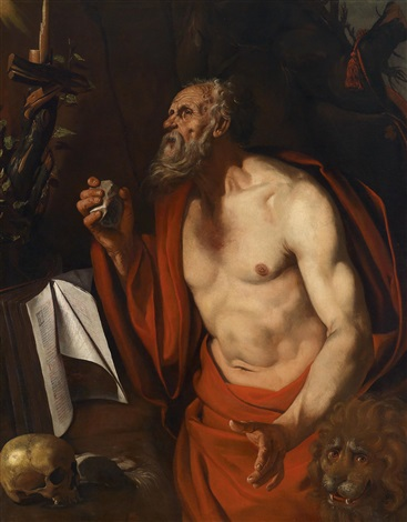 der büßende heilige hieronymus by michelangelo merisi da caravaggio