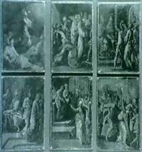 six scenes de la passion du christ:             le christ au jardin des oliviers... by bartolome (carducho) carducci