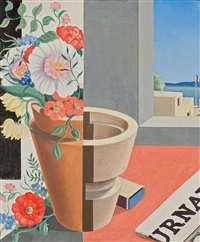composition au pot de fleurs by georges fustier