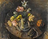 stillleben mit blumen in einer vase by sigismund righini