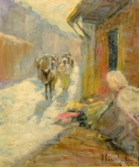 ruelle animée au maroc by felipe barantes abascal