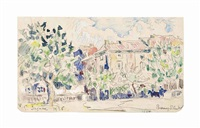 bourg-saint-andeol by paul signac