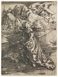 the woman with an owl, duck dich by matthaus zasinger