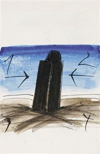 stele am meer (+ 3 others; 4 works) by rainer kriester
