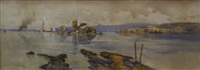 bottle and glass rocks, sydney harbour by albert henry fullwood