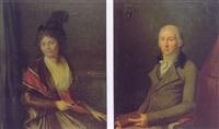portrait de femme au chapeau à plume by marie-victoire lemoine