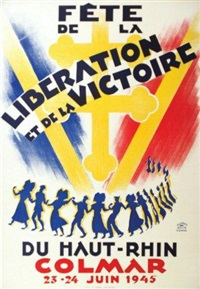 colmar juin 1945 - fête de la libération et de la victoire du haut-rhin by alfred selig