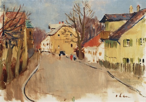 village road by hans olde