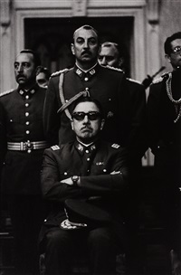augusto pinochet and officers after a mass for commemoration of independence national day, santiago, chile, 1973 (+ 3 others, various dates and sizes; 4 works) by chas gerretsen