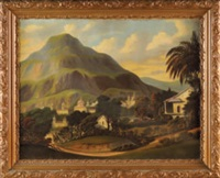 mountainous tropical landscape by thomas chambers