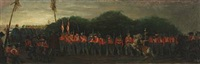 marching soldiers, presumably from the first schleswig war by david jacobsen
