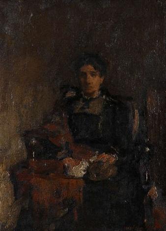 portrait dune femme assise sa mère by walter vaes