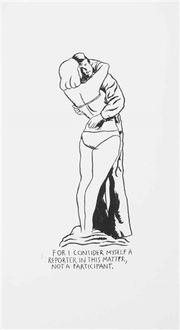 untitled (for i consider myself a reporter in this matter, not a participant) by raymond pettibon