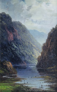 the wanganui river by thomas attwood