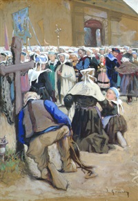 procession (dbl-sided) by adolphe ernest gumery