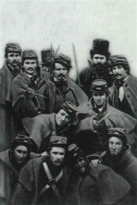 group of civil war soldiers by george angelini
