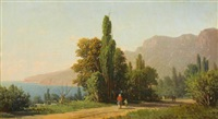 view of ai-petri, crimea by petr petrovich vereshchagin