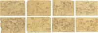 twelve illustrations for the works of homer (set of 12) by bonaventura genelli