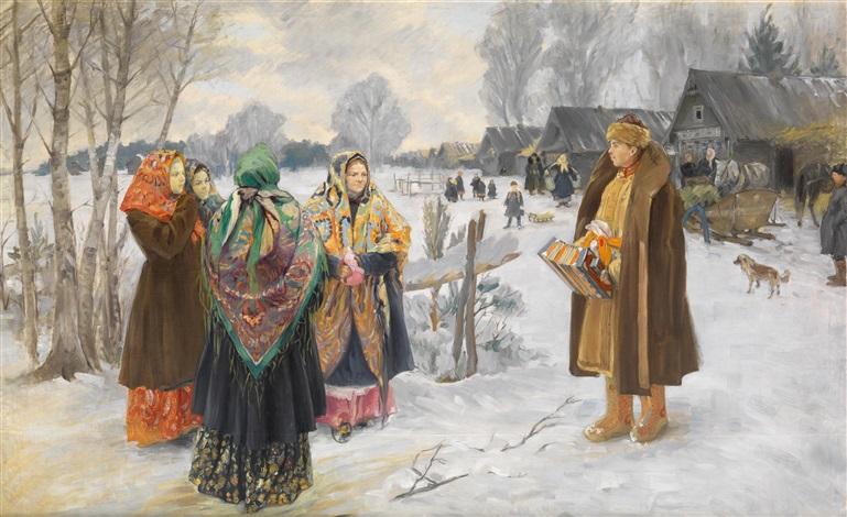 pogulianka stelldichein der dorfjugend by ivan semionovich kulikov