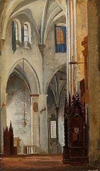 det indre af en kirke (tyrol) by niels simonsen