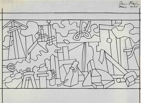 study for swing landscape by stuart davis