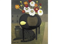 cat and table by mary fedden