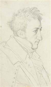portrait of the architect françois-désiré girard de bury by jean-auguste-dominique ingres