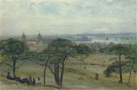 a view of greenwich with the naval hospital, london by john william inchbold