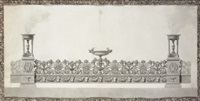 design for an elaborate surtout-de-table by jean guillaume moitte