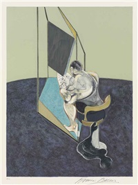 three studies of the male back (set of 3) by francis bacon