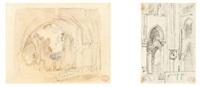 ruines d'un cloître (2 works) by paul huet