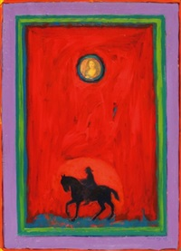 horse and rider by asad azi